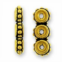 Antique Gold Beaded 3-Hole Link