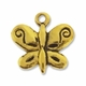 Antiqued Gold 12mm Butterfly Charm