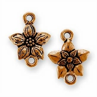 Antique Copper Star Jasmine Link