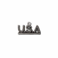 U.S.A. Sterling Silver Charm
