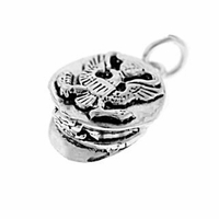 Navy Cap Sterling Silver Charm