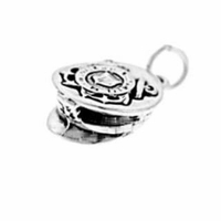 Coast Guard Cap Sterling Silver Charm