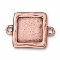 Antique Copper Simple Square Link