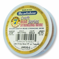 "Beadalon 7 Strand .018"" 30ft - Gold"