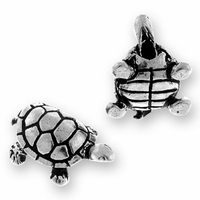 Antique Silver Turtle Bead