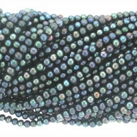 Peacock Potato Freshwater Pearl 5-5.5mm Bead Strand