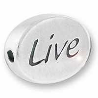 Live Sterling Silver Message Bead