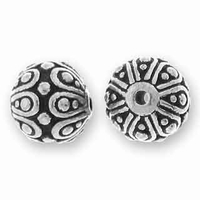 Antique Silver Casbah Round Bead