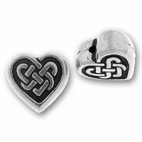 Antique Silver Celtic Heart Bead