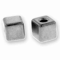 Silver Cube Bead