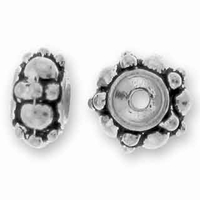 Antique Silver 7mm Turkish Bead