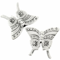 Thai Silver Large Butterfly Sterling Silver Bead (1PC)