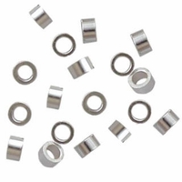 Silver Plated 2 x1.25mm Crimp Beads (50PK)