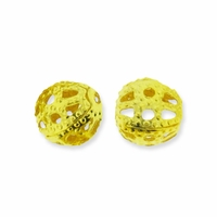 Gold Plate Filigree 4mm Beads (10PK)