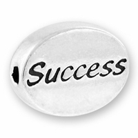 Success Sterling Silver Message Bead