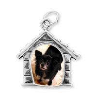 Dog House Picture Frame Sterling Silver Charm