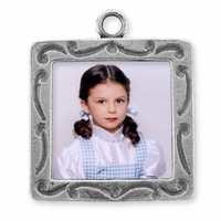Square Picture Frame Sterling Silver Charm