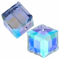 Tanzanite AB 5601 Swarovski 4mm Cube Bead (1PC)