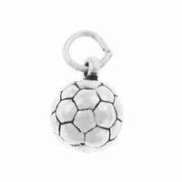 Soccer Ball Sterling Silver Charm