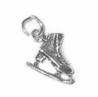 Ice Skate Sterling Silver Charm