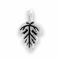 Antique Silver Oak Leaf Charm