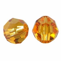 Topaz 8mm Swarovski 5000 Round Crystal Beads (1PC)