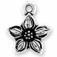 Antique Silver Star Jasmine Charm