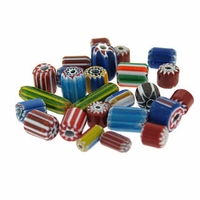 Chevron Glass Bead Mix (50PK)