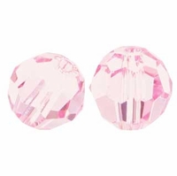 Light Rose 8mm Swarovski 5000 Round Crystal Beads (1PC)