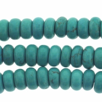 8mm Blue Turquoise Rondelle Beads 16 Inch