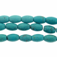 6x9mm Turquoise Rice Beads 16 Inch