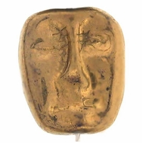 Czech Dramatic Face Bronze Bead (12pcs)