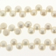 White 5-6mm Top Drilled Button Freshwater Pearl Strand