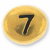 Antique Gold Number Bead 7