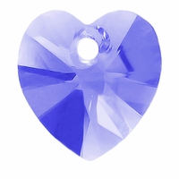 Tanzanite Swarovski 6228 Xilion Heart 10mm Pendants