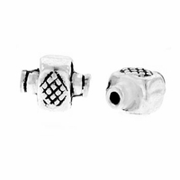 Small Decorative Rectangle Sterling Silver Bead (1PC)