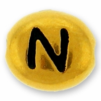Antique Gold Letter Bead  N