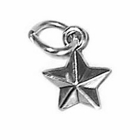 Star Sterling Silver Charm