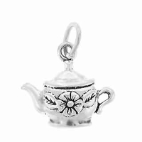 Sterling Silver Teapot Sterling Silver Charm