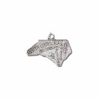 North Carolina Sterling Silver Charm