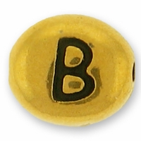 Antique Gold Letter Bead  B