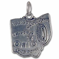 Ohio Sterling Silver Charm