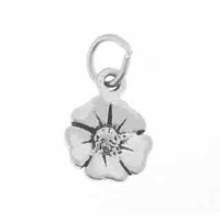 Camrose Flower Sterling Silver Charm