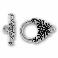 Antique Silver Garland Toggle Clasp Set