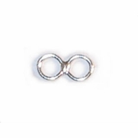 Sterling Silver Eye Only Double Loop (1PC)