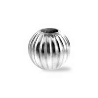 6mm Sterling Silver Corrugated Round Beads (1PC)