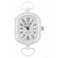 Silver Loop Rhinestone Timeless Watch Face
