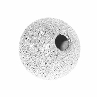 7mm Sterling Silver Stardust  Round Beads w/1.8mm hole  (1PC)