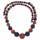 Graduated Round 6mm-16mm Blue & Gold Goldstone Beads 15.5 inch Strand