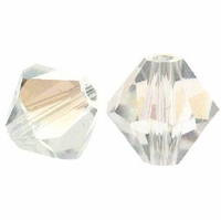 Crystal Moonlight 5328 6mm Swarovski Crystal XILION Bicones Beads (10PK)